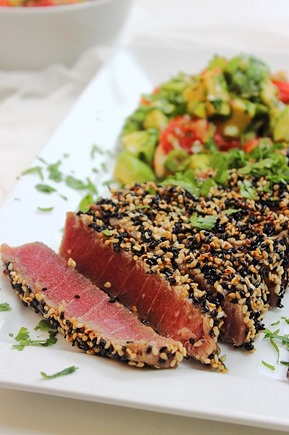 Tuna Sesame Seared Steak with Avocado Salsa (36)