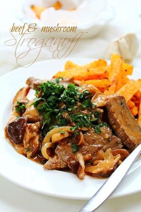Beef and Mushroom Stroganoff (14) title