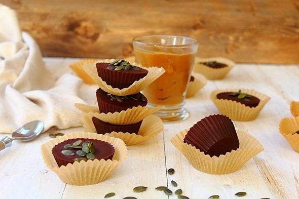 Pumpkin Sunbutter Cups (4)