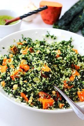 Thanksgiving Sweet Potato Kale Cauliflower Rice Salad (15)