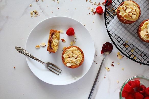 Raspberry Bakewell Tarts (8)
