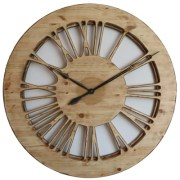 Roman Numeral Oversized Skeleton Wall Clocks made of Wood & Hand Painted.