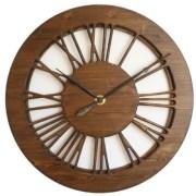 Hollow Vintage Roman Numeral Large Wall Clock. Handmade Work of Art.
