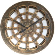 Extra Large Wooden Hollow Luxury Wall Clock. Handmade and Hand Painted in UK