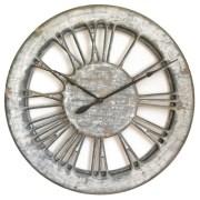 Large Skeleton Wall Clock Shabby Chic White - 100 cm Handmade & Hand Painted