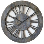 Shabby Chic Grey Extra Large 100 cm Handmade Wall Clock Wood