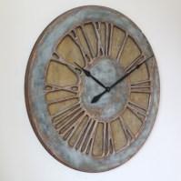 Large Wall Clock for Living Room. Handmade work of Art.