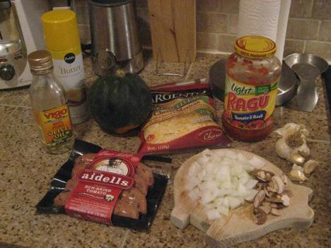 Sausage Acorn Squash Ingredients