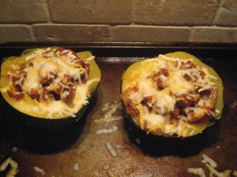 Sausage Squash with Cheese