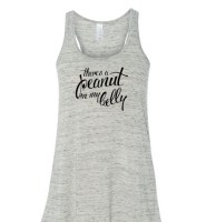 There's a Peanut in my Belly Marble White Maternity Tank