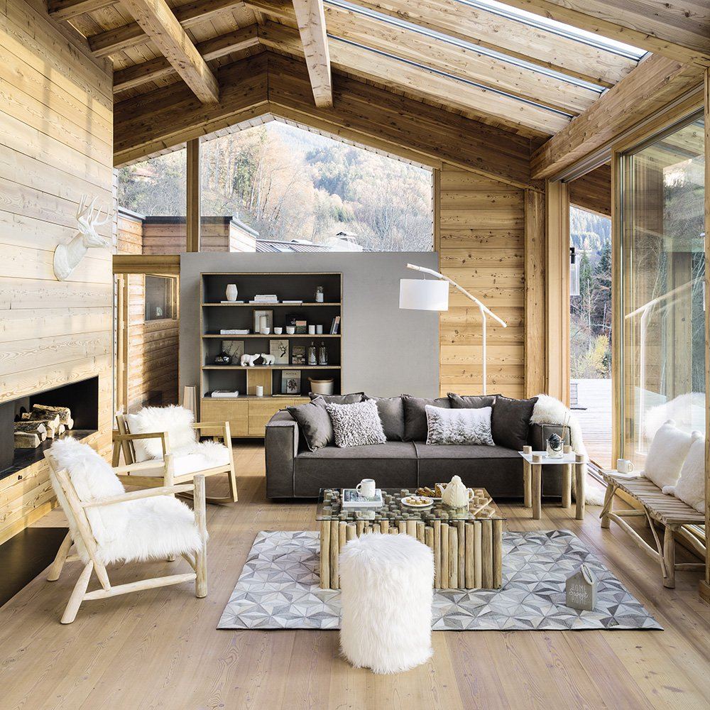 Canapé Style Chalet Salon Chalet Scandinave Pearlfection Fr