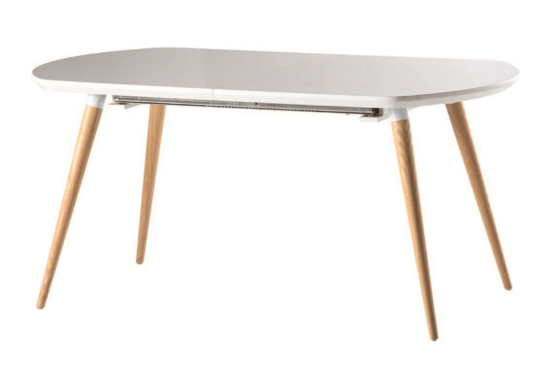 Table Ronde Scandinave Rallonge Table En Bois Scandinave Ronde Avec Rallonges Pearlfection Fr