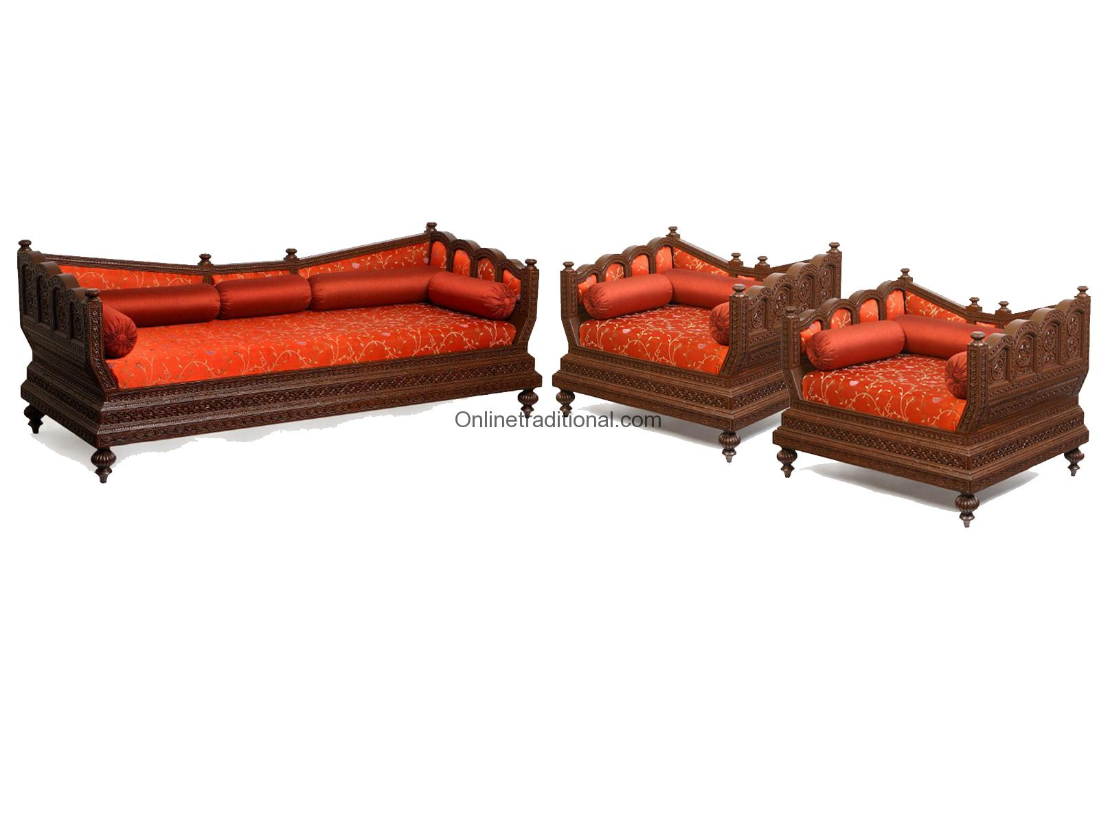 Sofa Set Furniture Diwan Sofa Set Indian Wooden Sofa Set For Home And Office Pearl