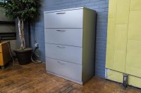 Steelcase Silver 4-Drawer Lateral File Cabinets  Peartree ...