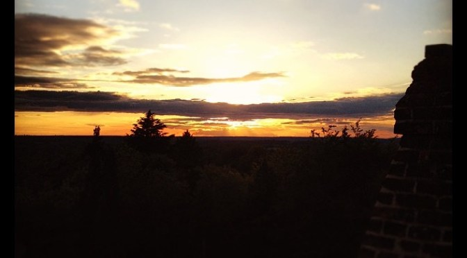 Sunset over Finchampstead