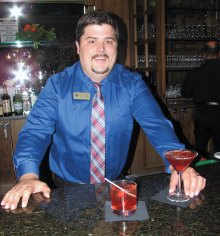 Beverage Manager Brian Cate with his signature Templeton Rye Manhattan (up or on the rocks).