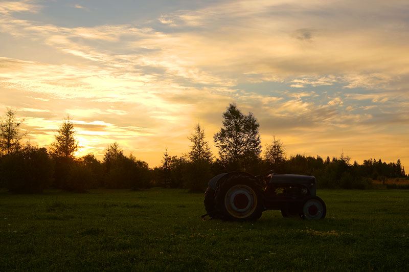 Tractor at Sunrise