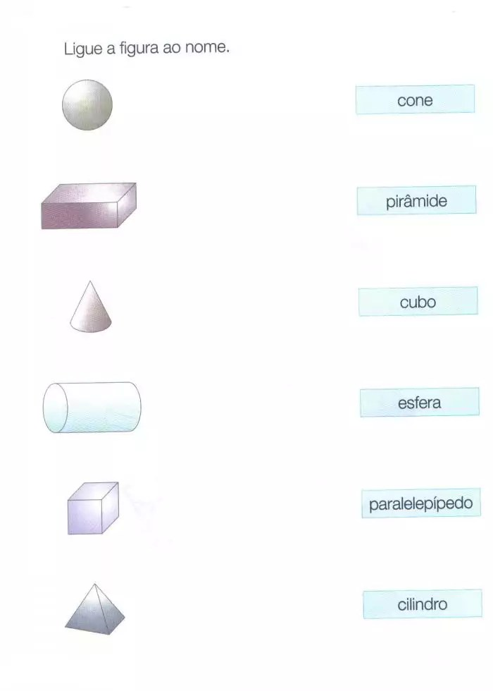 geometria- ligue a figura ao nome