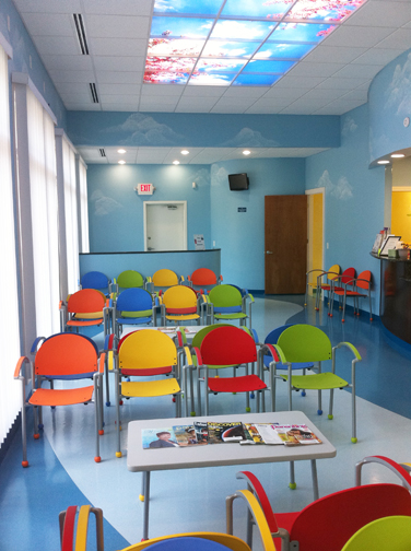 Rainbow Pediatrics of Fayetteville Affordable and Colorful Waiting