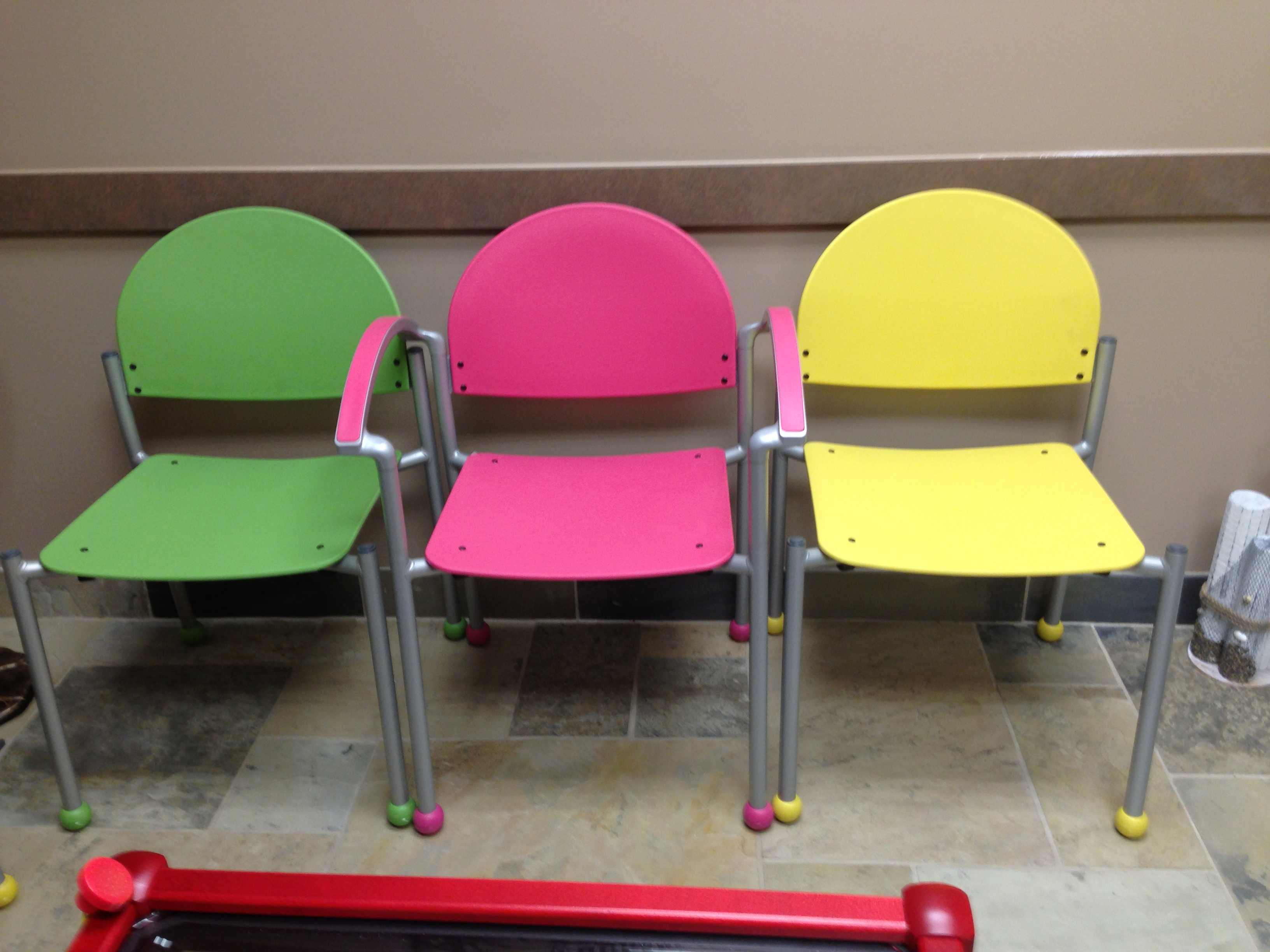 Colorful Desk Chairs Colorful Waiting Room With Bola Chairs Affordable And