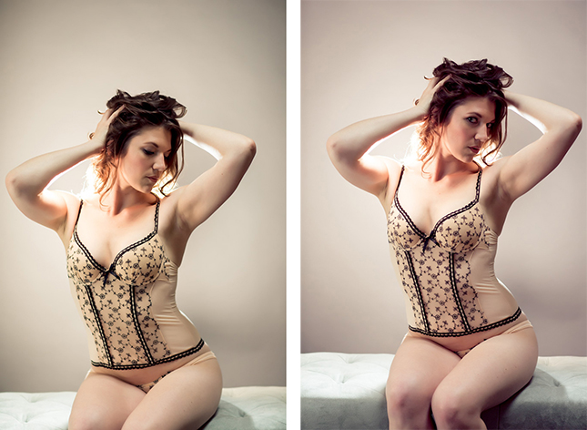 Miss I photographed by Peekabo Portland Boudoir Photography