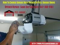 How To Choose Garage Door Opener By Peel Garage Doors ...