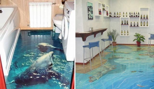 Flüssiger Bodenbelag Wohnzimmer