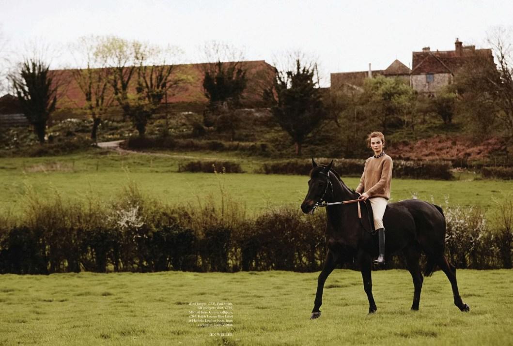 www.pegasebuzz.com | Moa Aberg by Ben Weller for Harper's Bazaar UK, july 2014