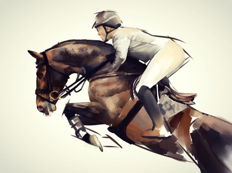 www.pegasebuzz.com | Equine painting : Nightsrunner (Laura)