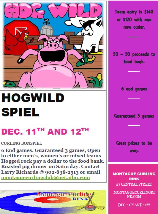 Hog Wild funspiel @ Montague Curling Rink