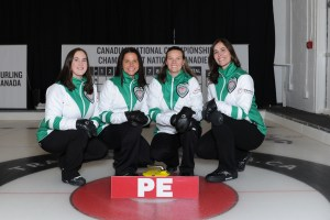 PEI women score eight-ender and improve to 4-1 at the Travelers Curling Club Ch'ship, men are 2-2