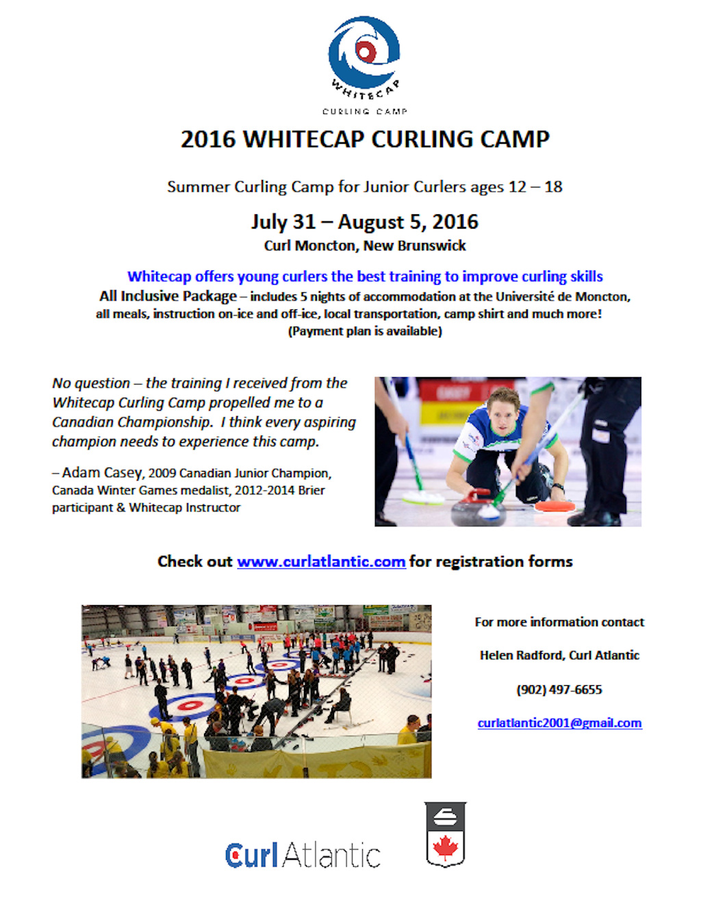 Whitecap Junior Curling Camp @ Curl Moncton | Moncton | New Brunswick | Canada