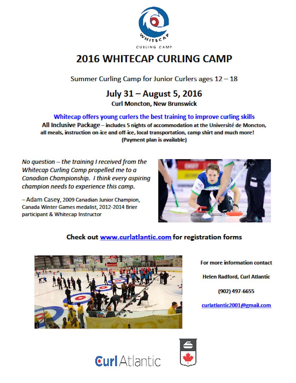 Whitecap Junior Curling Camp @ Curl Moncton | Moncton | New Brunswick | Canada