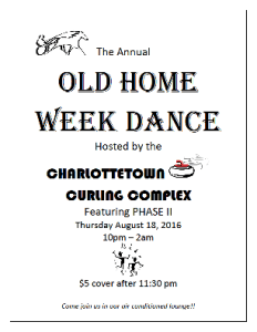 Ch'town Curling Complex holding Early Membership Drive, annual Old Home Week dance