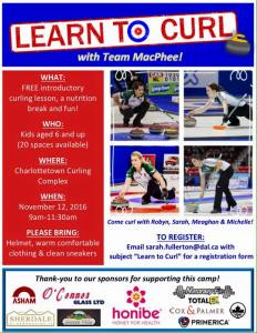 Kids: Learn to Curl with Team MacPhee on Nov. 12