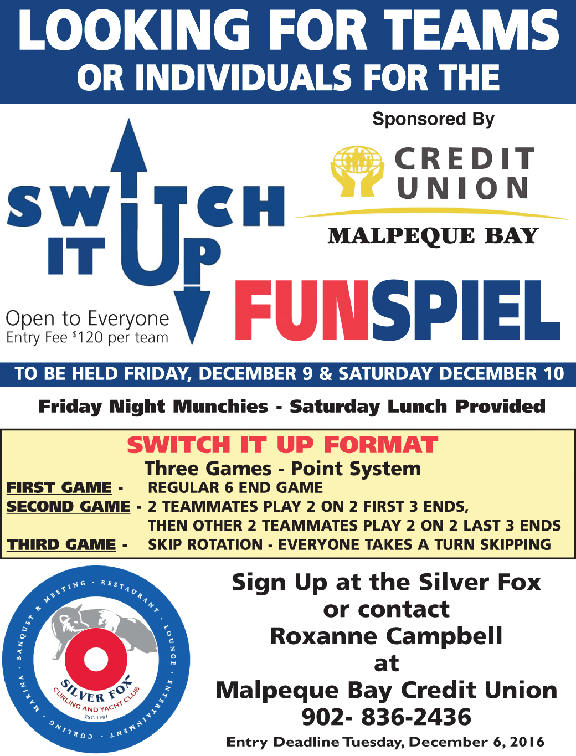 Switch it Up funspiel @ Silver Fox Curling and Yacht Community Complex