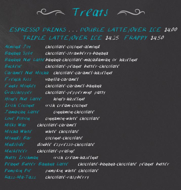 MENU The Pelican House - pelican house menu coffee cupcake