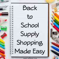 Back to School Supply Shopping Made Easy