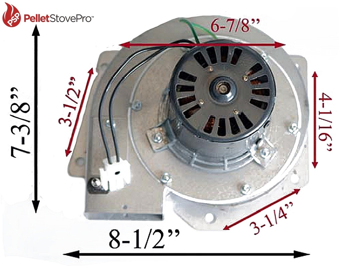 Fireplace Insert Blower Fan Pelpro Pel Pro Pellet Stove Exhaust Motor Blower W Housing 10 1113 G