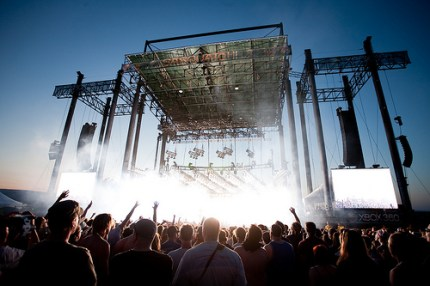 Fans wait for Trent Reznor to take the stage. (Photo by Christopher Nelson)