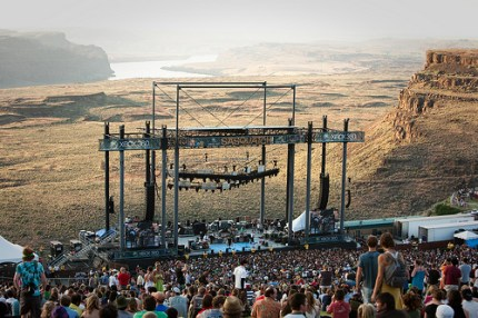 The sun sets on day one of Sasquatch. (Photo by Christopher Nelson)