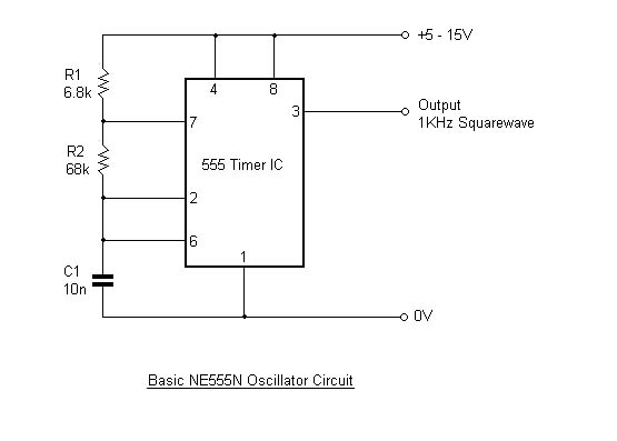 basic 555 timer oscillator
