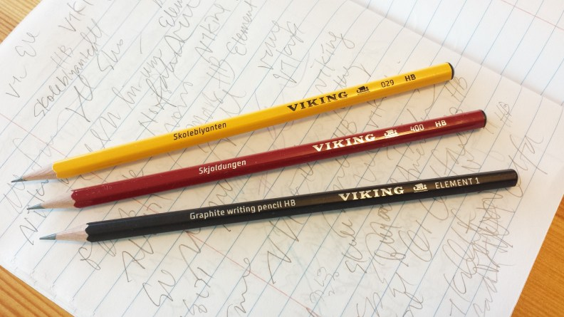 Viking pencils and starting life in a new place for Viking pencils