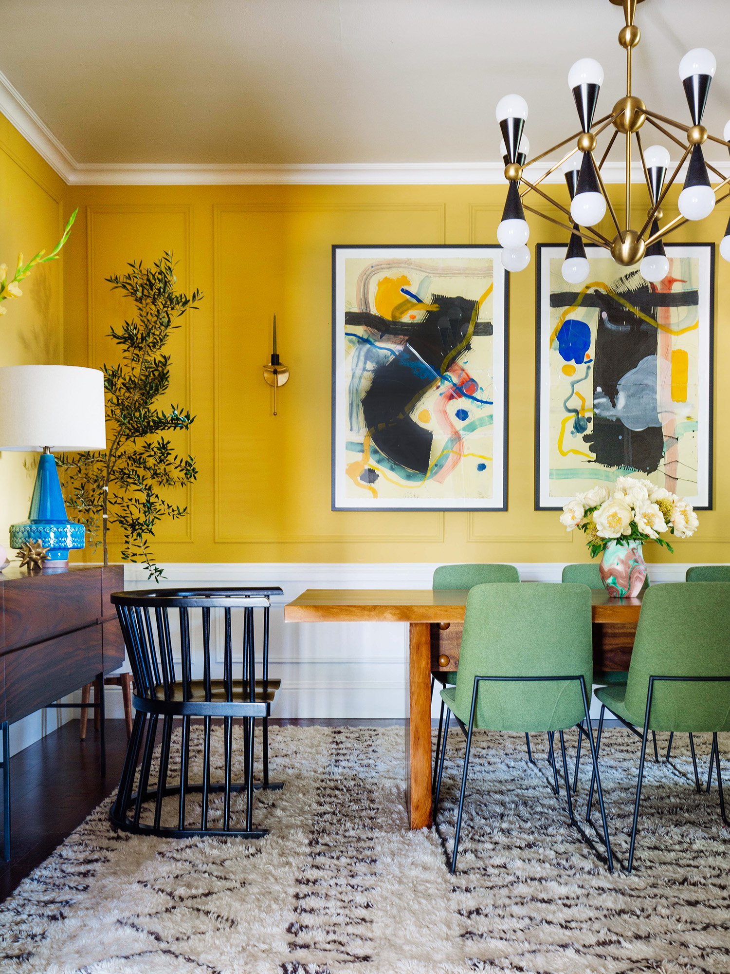 Yellow Dining Room Walls 6 Trends To Try From The One Room Challenge Studio