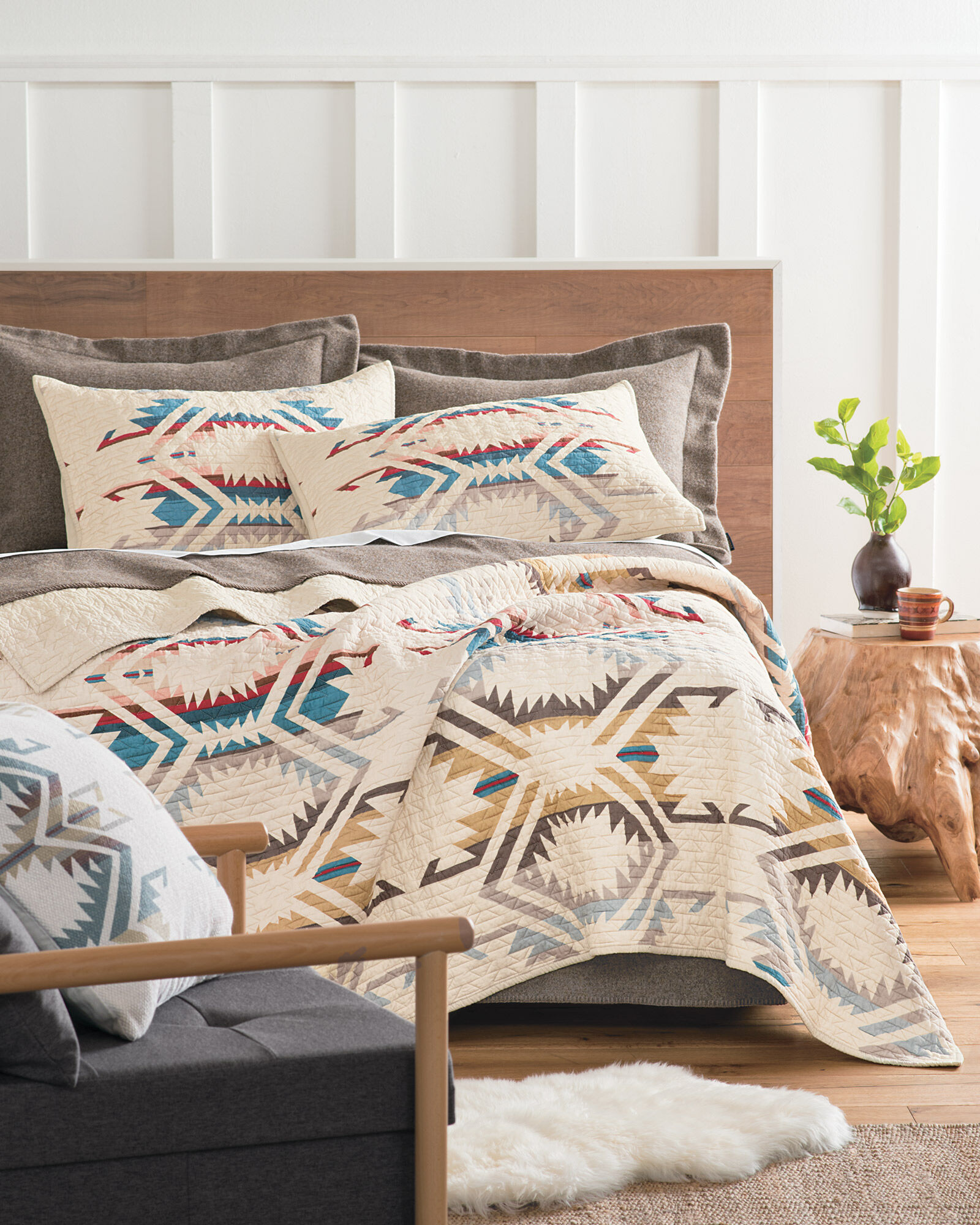 Coverlets For Sale White Sands Printed Quilt Set