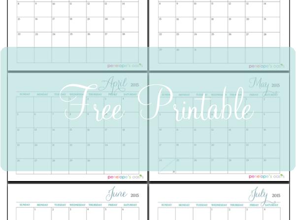 Free 2015 Monthly Calendar Printable #IDelight @InDelight - free printable monthly calendar