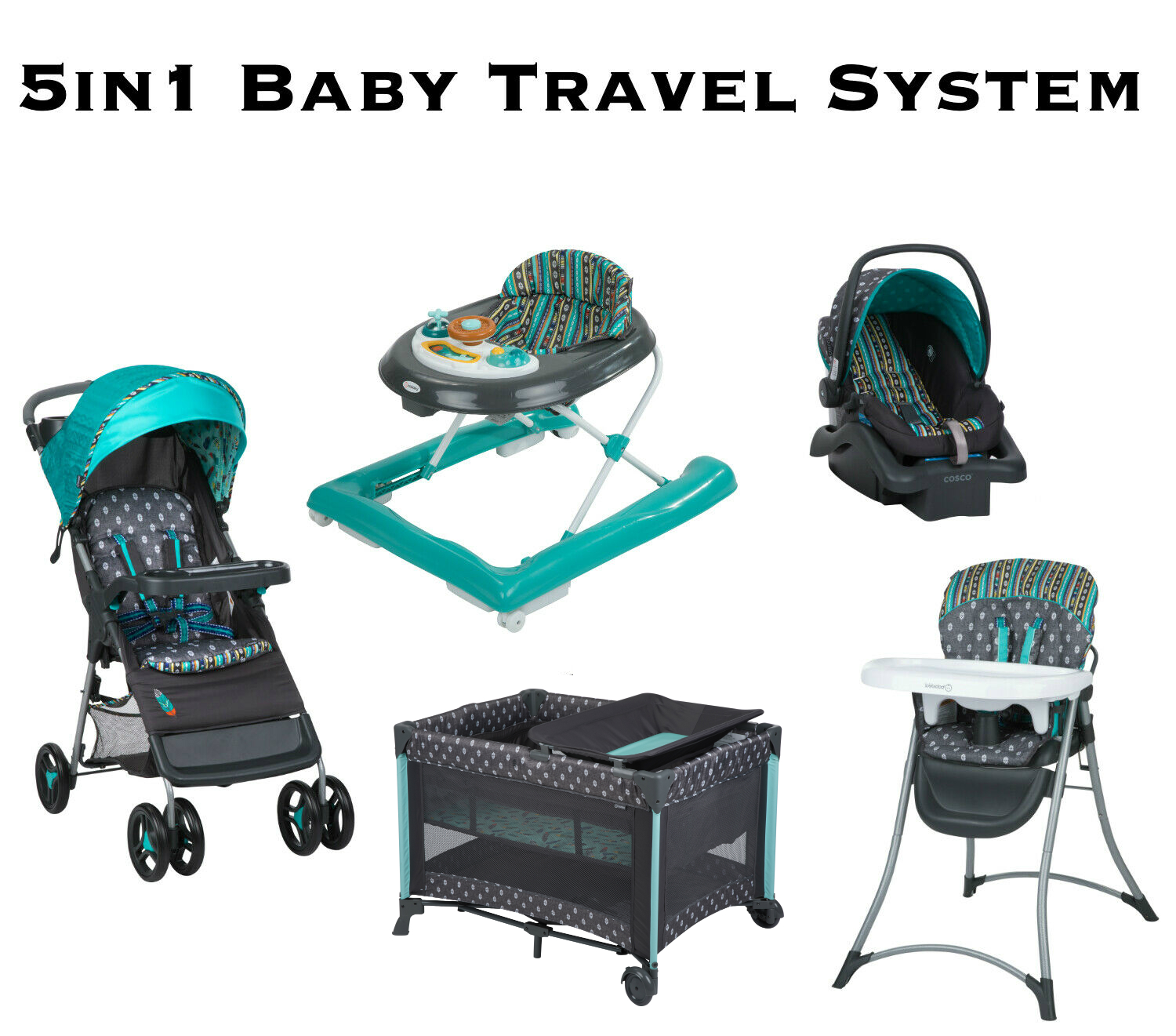 Stroller Travel System Ebay Details About Baby Stroller With Car Seat Travel System High Chair Infant Playard Walker Set