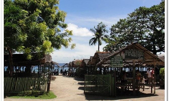 Entrance to Palm Beach Resort in Mactan