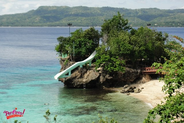 Waterslide and beach at Salagdoong