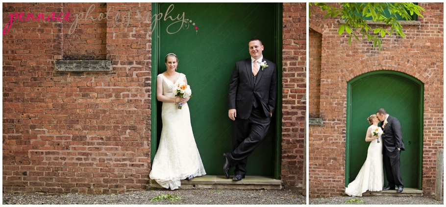 Bride and Groom and Liberty Hall in Union NJ